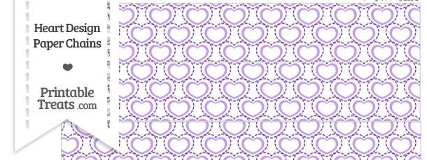 Purple Heart Design Paper Chains