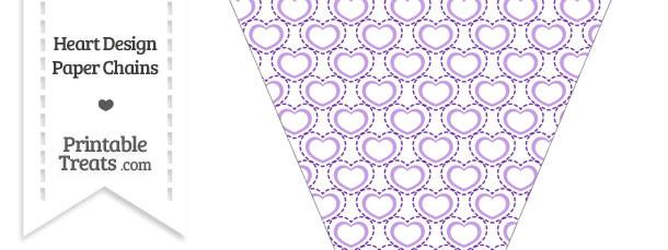 Purple Heart Design Pennant Banner Flag