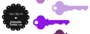 Purple Key Clipart