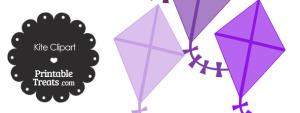 Purple Kite Clipart