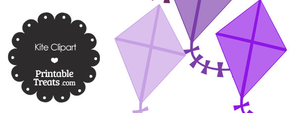 Purple Kite Clipart