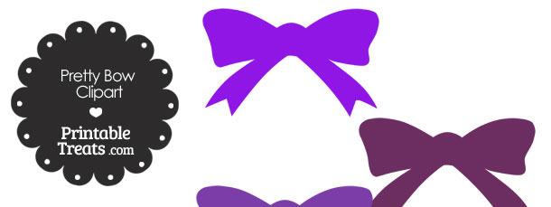 Purple Pretty Bow Clipart