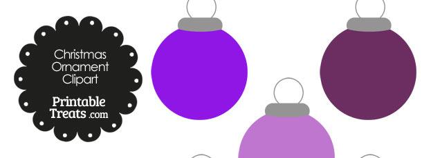 Purple Round Ornament Clipart