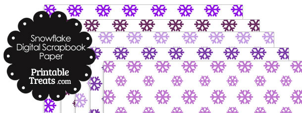 Purple Snowflake Digital Scrapbook Paper