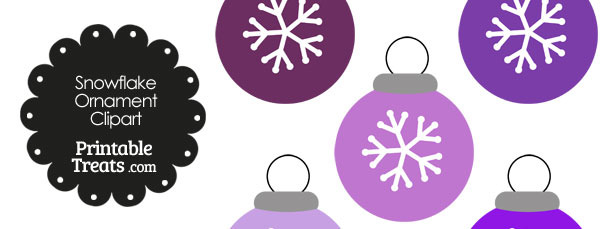 Purple Snowflake Ornament Clipart