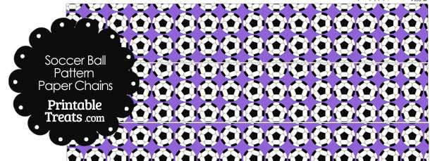 Purple Soccer Ball Pattern Paper Chains
