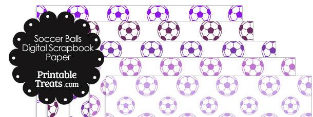 Purple Soccer Digital Scrapbook Paper