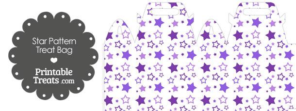 Purple Star Pattern Treat Bag