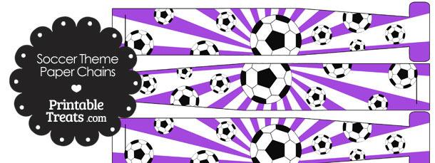 Purple Sunburst Soccer Paper Chains
