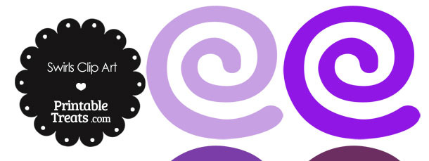 Purple Swirls Clipart