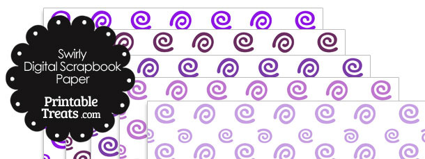 Purple Swirls Digital Scrapbook Paper