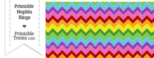 Rainbow Chevron Napkin Rings