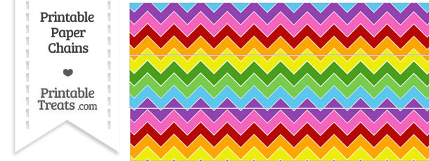 Rainbow Chevron Paper Chains