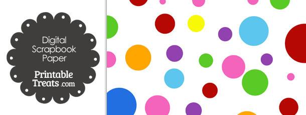 Rainbow Dots Digital Scrapbook Paper
