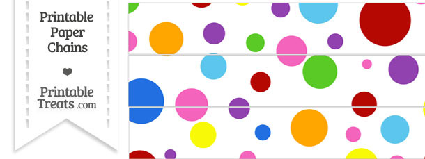 Rainbow Dots Paper Chains