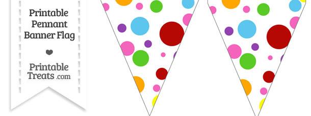 Rainbow Dots Pennant Banner Flag