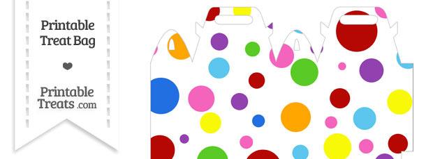 Rainbow Dots Treat Bag