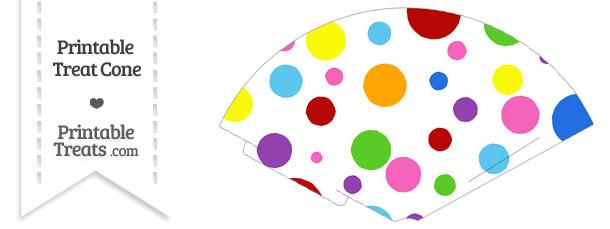 Rainbow Dots Treat Cone
