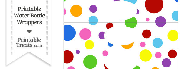 Rainbow Dots Water Bottle Wrappers