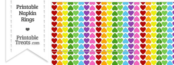 Rainbow Hearts Napkin Rings