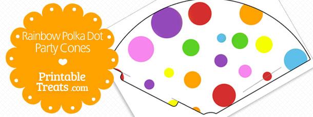 free-rainbow-polka-dot-party-cones