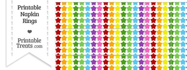 Rainbow Stars Napkin Rings