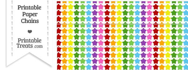 Rainbow Stars Paper Chains