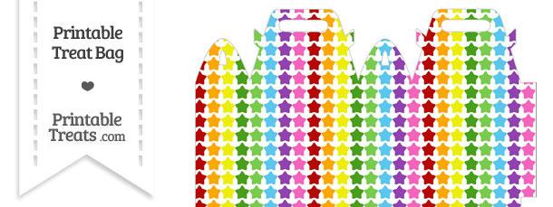 Rainbow Stars Treat Bag
