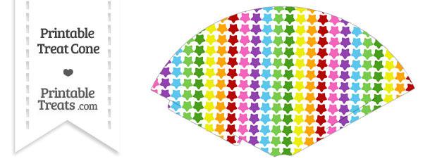 Rainbow Stars Treat Cone