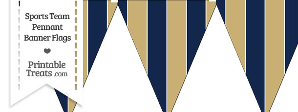 Rams Colors Pennant Banner Flag