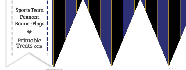 Ravens Colors Pennant Banner Flag