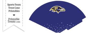Ravens Treat Cone Printable