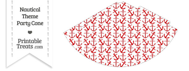 Red Anchors Party Cone