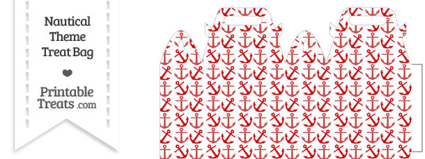 Red Anchors Treat Bag