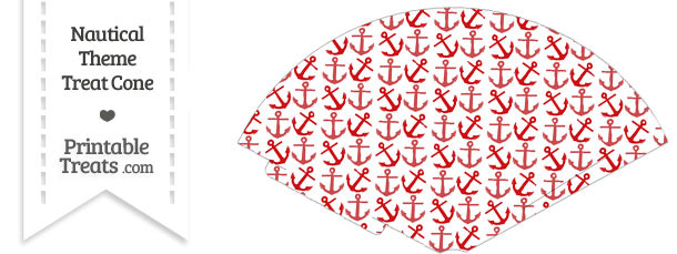 Red Anchors Treat Cone