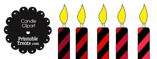 Red and Black Candle Clipart
