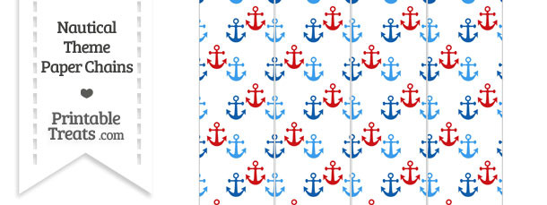 Red and Blue Anchors Paper Chains