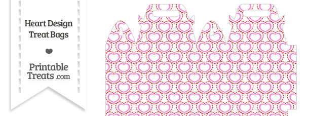 Red and Pink Heart Design Treat Bag