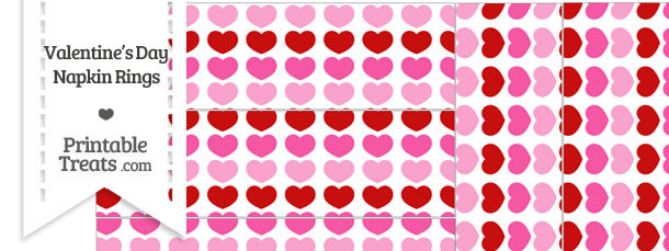 Red and Pink Hearts Napkin Rings