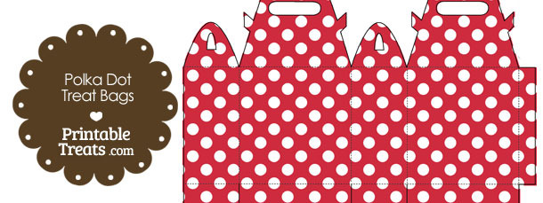 Red and White Polka Dot Treat Bags to Print