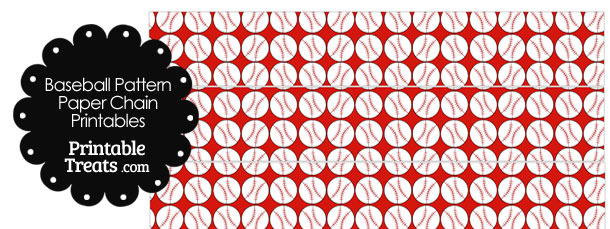 Red Baseball Pattern Paper Chains