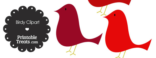 Red Birdy Clipart