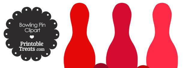 Red Bowling Pin Clipart