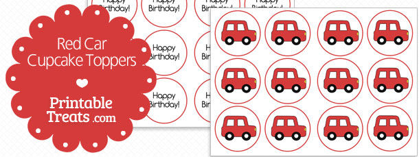 free-red-car-cupcake-toppers
