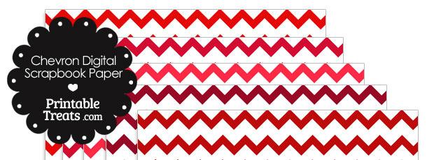 Red Chevron Digital Scrapbook Paper