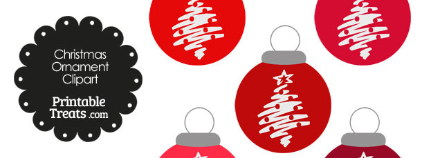 Red Christmas Tree Christmas Ornament Clipart