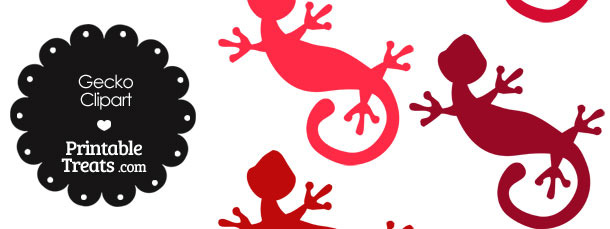 Red Gecko Clipart