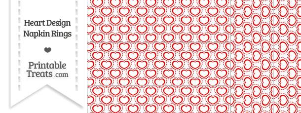 Red Heart Design Napkin Rings