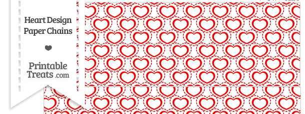 Red Heart Design Paper Chains