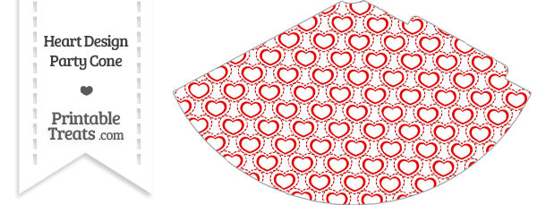 Red Heart Design Party Cone